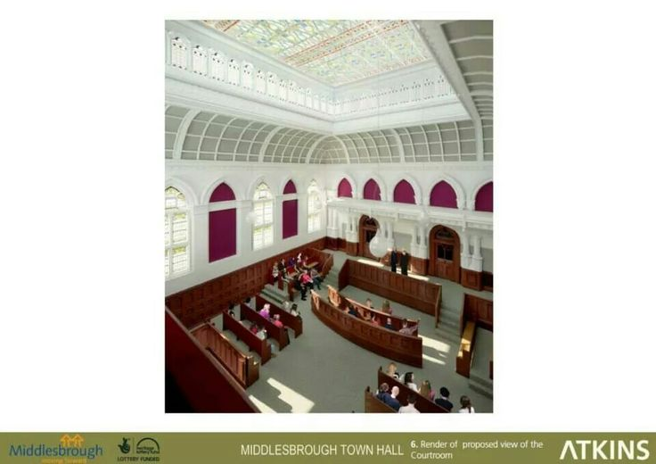 Proposed view of the Courtroom, Middlesbrough Town Hall