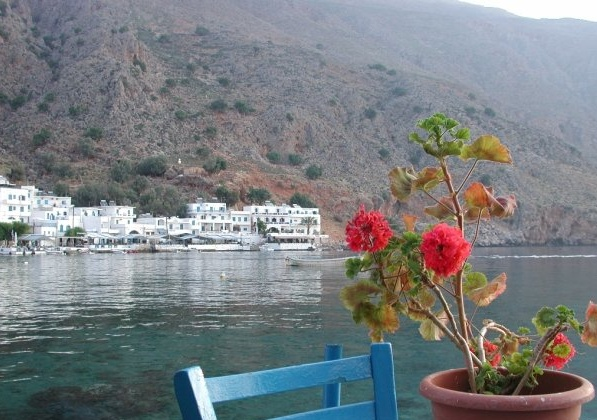 Beautiful Loutro village, between Roumeli and Sfakia, on the south coast. A place to escape from civilization