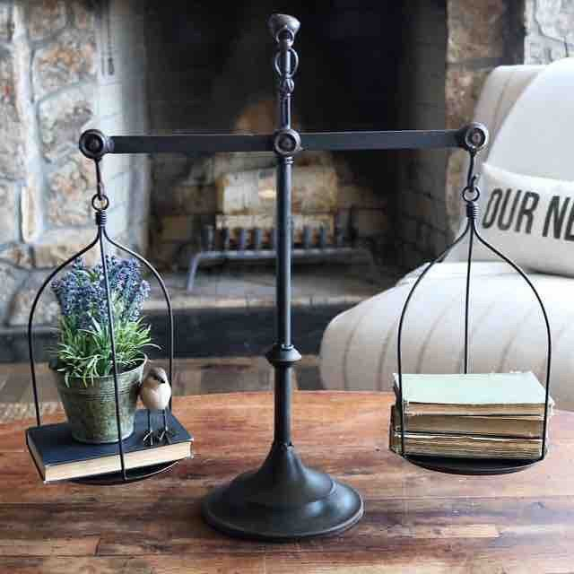 This Decorative Vintage Scale has been in high demand. This vintage style scale has the perfect farmhouse appeal and makes a statment piece on an entry way table, buffet, entertainment center or on a