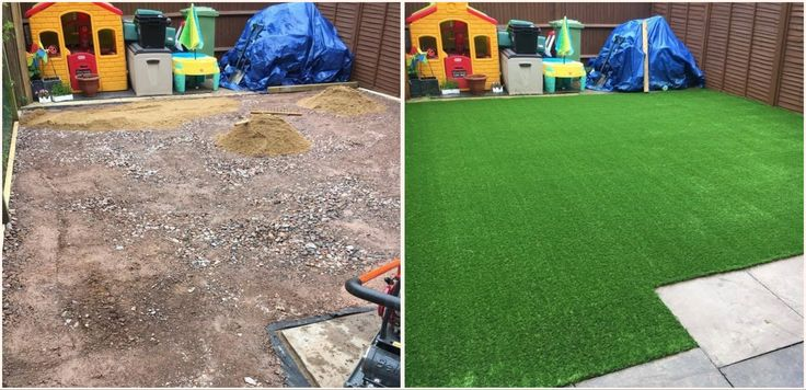 A great example of a garden makeover! let your kids have fun outside all year round with Artificial Grass