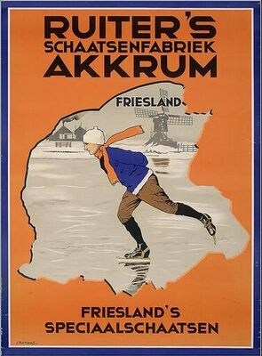 Old advertising about Dutch ice skates. #ad