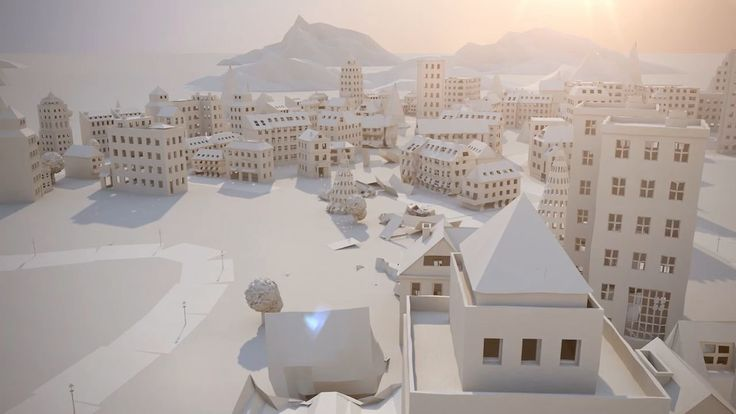 Paper City. The streets are paved with paper. This delicate animation follows the charming rise and fold of a fragile metropolis. By Maciek  Janicki