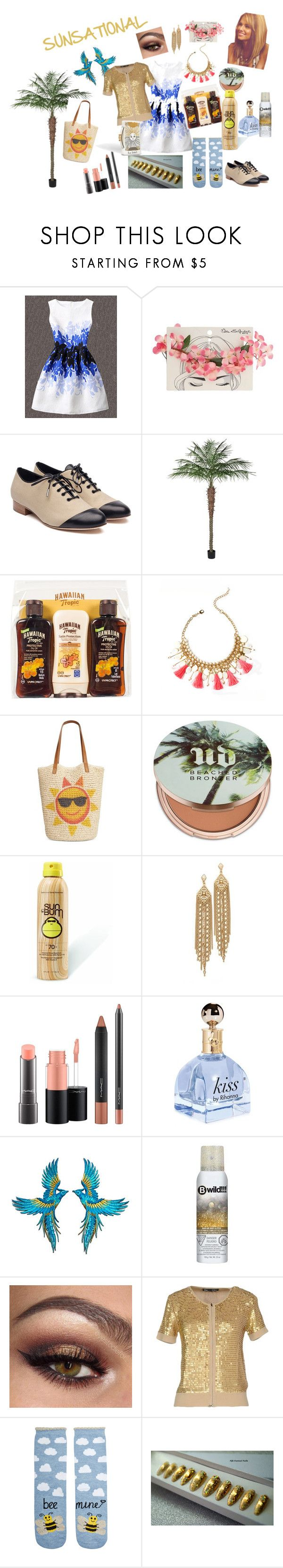 """""""Fun in the sun"""" by naomi-mimi-davies-brown on Polyvore featuring Miss Selfridge, Liam Fahy, Hawaiian Tropic, Lilly Pulitzer, Style & Co., Urban Decay, Sun Bum, Capwell + Co, MAC Cosmetics and Blue Les Copains"""