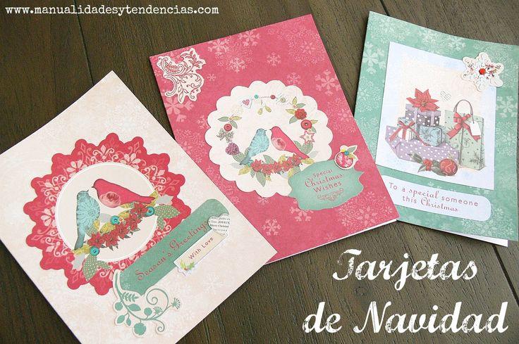 Tarjetas navideñas / Christmas cards www.manualidadesytendencias.com #manualidades #scrapbooking #tarjetas #Navidad #Navidad #Noël #cards #cartes #scrapbook #hecho #mano #handmade