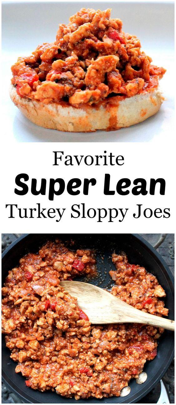 Favorite Super Lean Turkey Sloppy Joes // Ambitious Kitchen
