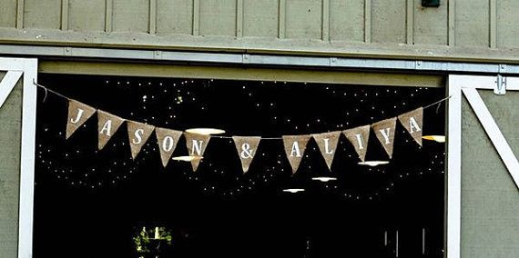 Customized Banner, Wedding Pennant Banner, Wedding Decoration, Bridal Shower, Photo Prop, Anniversary