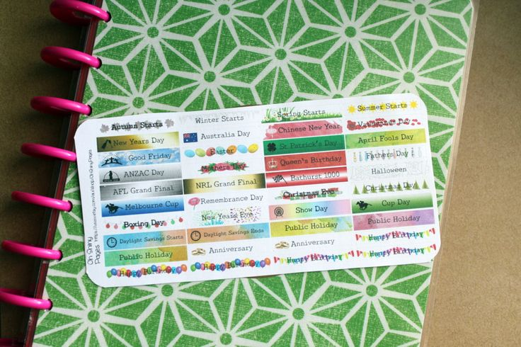 Australian Holiday Titles | Planner Stickers | MAMBI Happy Planner, ECLP by OhShinyPages on Etsy