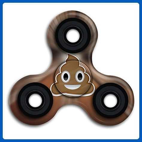 Cute Poop Smiley Face Hand Toy Tri Figit Spinners EDC ADHD Focus Anxiety Stress Relief Boredom Killing Time Toys - Fidget spinner (*Amazon Partner-Link)