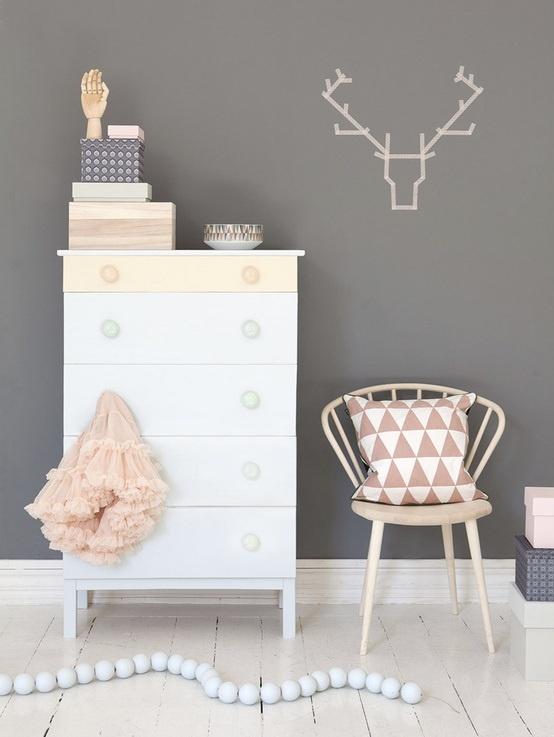 Pale Pink Geometric Cushion