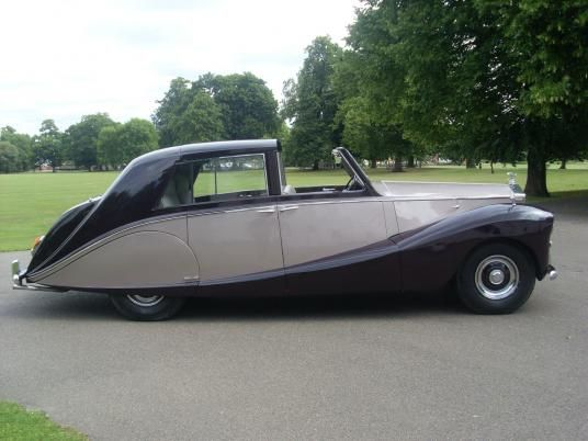 1953 Rolls-Royce Silver Wraith. Built for Nubar Gulbenkian, it has crocodile embelishments around the upholstery
