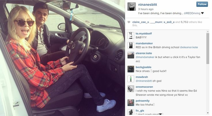 Singer and song writer Nina Nesbitt is learning to drive with RED! #NinaNesbitt #nesbians