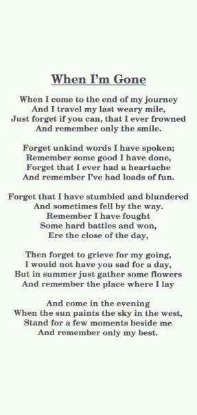 Best 25+ Funeral poems for dad ideas on Pinterest Funeral poems - funeral words for cards