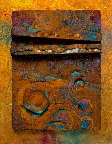 "CAROL NELSON FINE ART BLOG: Mixed Media Art Painting ""Relic"" by Colorado Mixed Media Artist Carol Nelson"