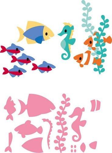 Marianne D Collectable Eline`s tropische vissen COL1431<br />14,5x20,5 cm<br />(24-4) [€10,95]