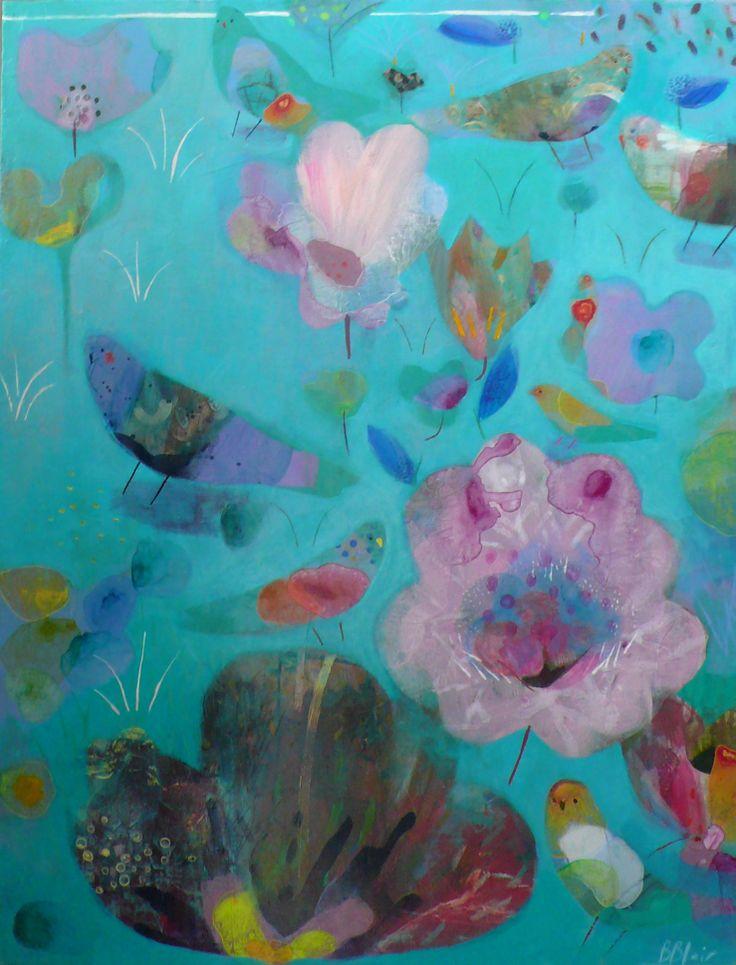 'Seedlings' by Becky Blair Acrylic on board