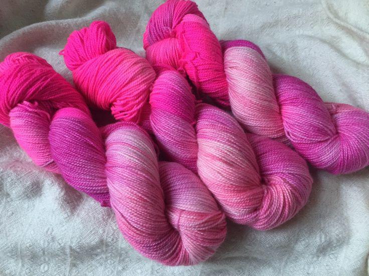 Neon Ballerina high twist hand dyed luxury sock yarn by TrulyHooked on Etsy https://www.etsy.com/listing/226293163/neon-ballerina-high-twist-hand-dyed