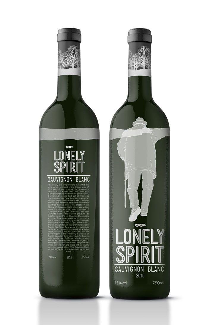 pretty funny: Wine Bottle Design, Wine Packaging, Wine Labels, Wine Design, Packaging Design, White Wine, Spirit Wine, Design Blog, Lonely Spirit