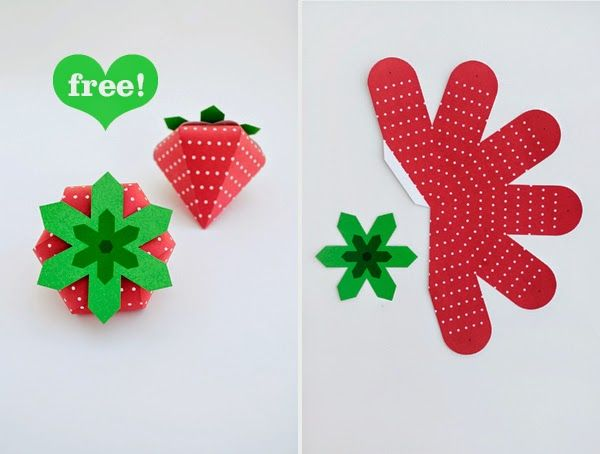 Strawberry Shaped Free Printable Box. | Oh My Fiesta! in english