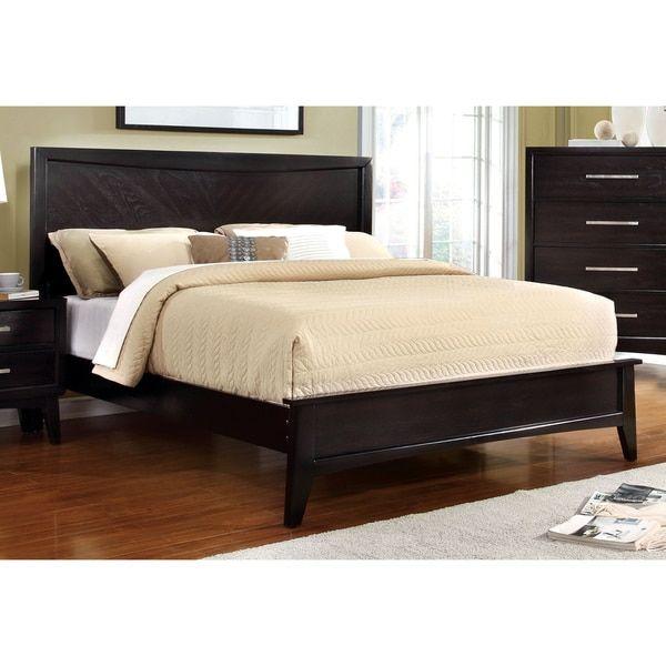 Furniture of America Kasten Modern Espresso Platform Bed
