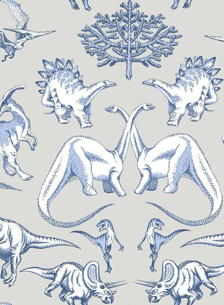 Dotty Dinosaur wallpaper design.