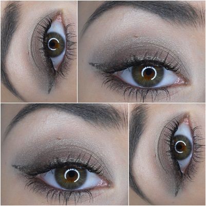 Brown smoky with eyeliner