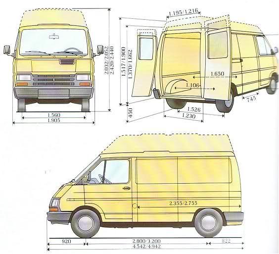 Camper pinterest campers and search - Medidas interiores furgonetas ...