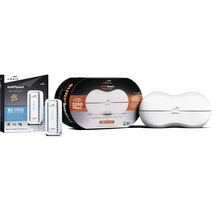 SURFboard SB6183 Cable Modem and SBR-AC3200P Wi-Fi Router with RipCurrent G.hn Technology