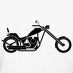 silhouette, pictogram, icon, symbol, bike, motorcycle, chopper, harley davidson, biker, rock and roll