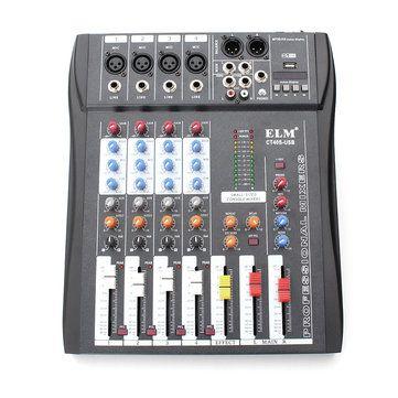 CT-40S 4 Channel <b>Professional</b> Live Studio <b>Audio Mixer</b> with 48V ...