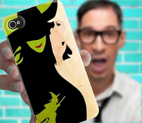 OMG I want it!! Wicked Musical Tale of Oz - iPhone 4 or 5 or 4s or Galaxy S3 - Hard Case Cover - High Quality Full Wrap Image 3D Case