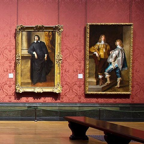 Two paintings by Anthony van Dyck in Room 31, The Mond Room. Van Dyck's genius as a portraitist lay in his talent for capturing the aspirations of his sitters. Whether using a low viewpoint to make his subjects look taller, depicting them in rich settings and with elegant accessories, or endowing them with a confident gaze, Van Dyck excelled at portraying his patrons looking their best.  On the right is his imposing double portrait 'Lord John Stuart and his Brother, Lord Bernard Stuart'. The…