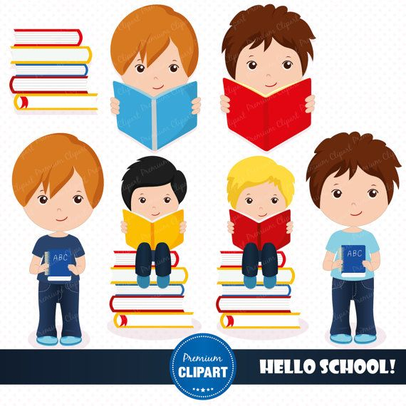 Back to school clipart, school clipart, boy clipart, school clip art,  clipart book, clipart images, commercial use - CL112