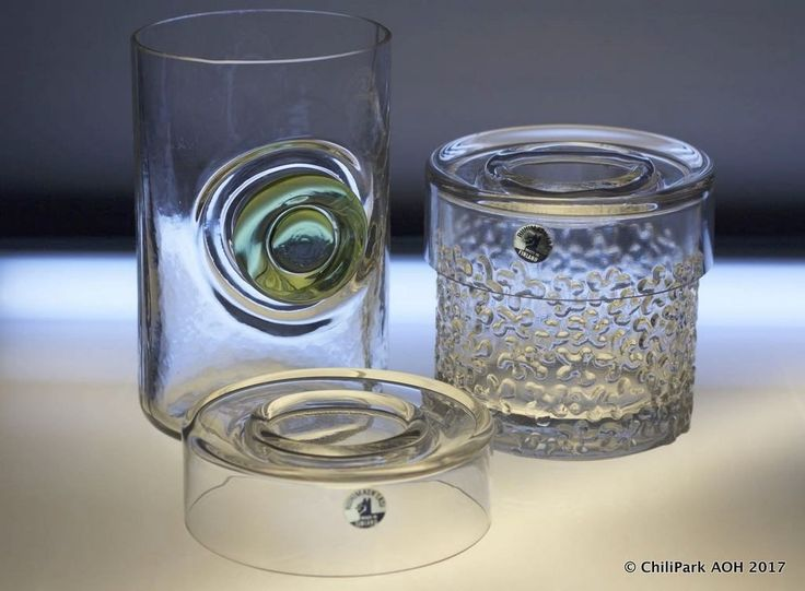 Riihimäen Lasi, caviar holder, finnish glass