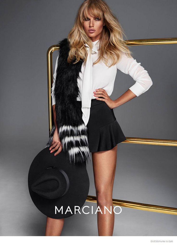 Guess by Marciano Fall 2014--Things get glam for the fall-winter 2014 campaign from Guess by Marciano. The new advertisements feature Solveig Mork, Yara Kh