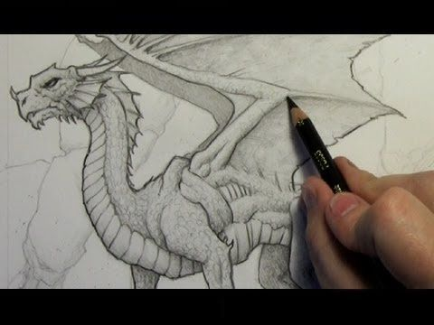 How to Draw a Dragon: Step-By-Step (Narrated Version) too advanced for 3rd but a nice background to working.