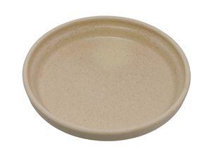Plato maceta cerámica redondo 15cm. Arena.