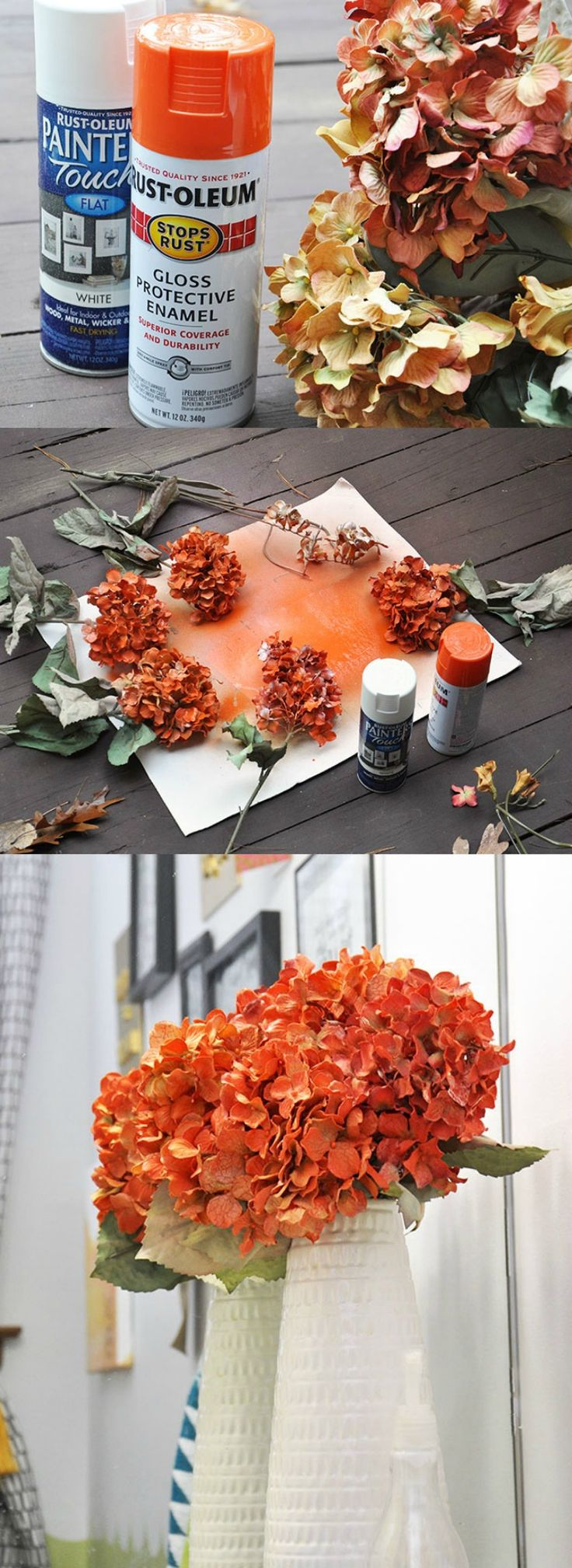 This is the easy way to paint fake flowers and make them be the color that you want. Reuse what you have and save money!