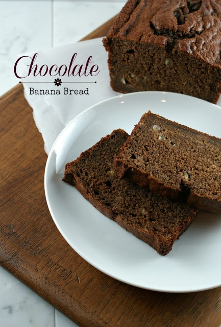*** CHOCOLATE BANANA BREAD (Feb'13):  This was soooo yummy! Will definitely be making it again.