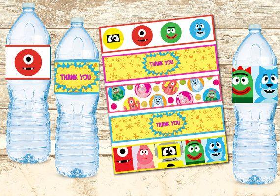 Yo Gabba Gabba Bottle Wrapper-Yo Gabba Gabba por HappyKidsPrint