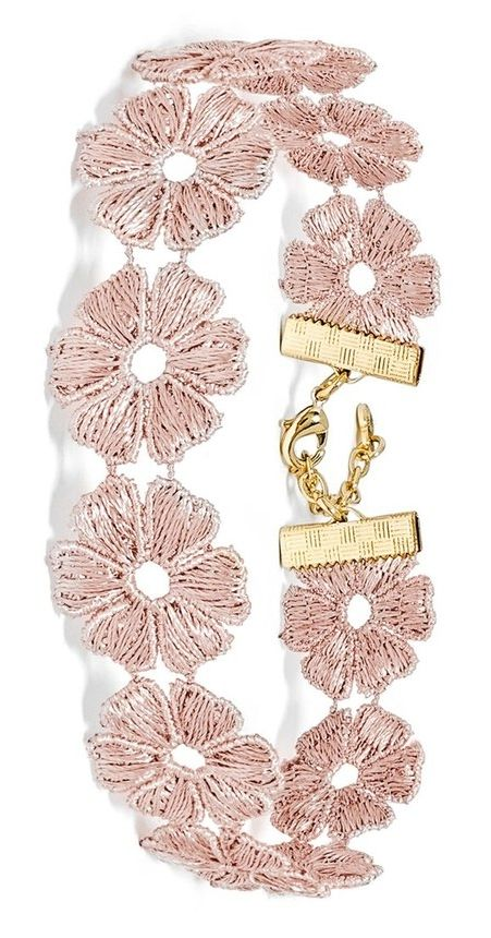 Beautifully woven flowers update this classic choker with elegant and playful appeal.