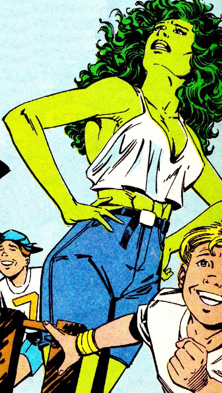 S H E - H U L K in Sensational She-Hulk #9 (Dec. 1989) - Bryan Hitch (pencils), Al Milgrom (inks) & Glynis Oliver (colors)