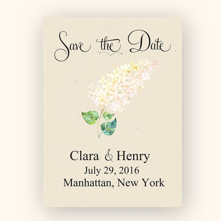 Save the Date template, printable - instant download by AlexeiDesign on Etsy