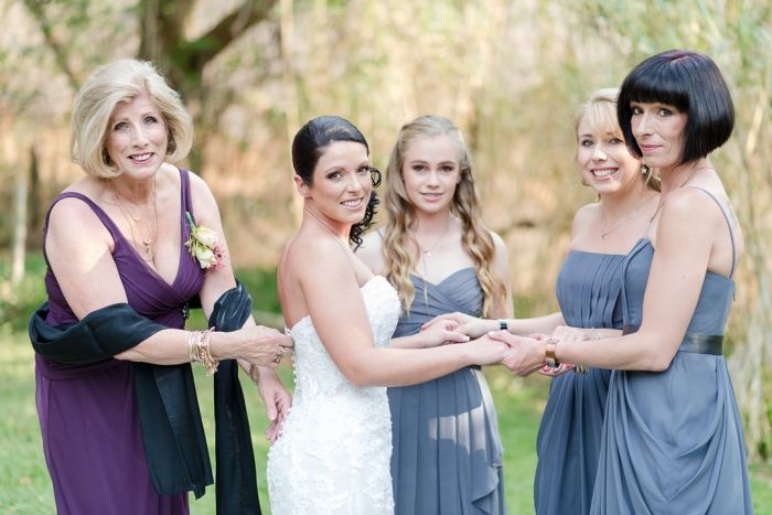 Bridesmaids dresses from Bride&co. Click to our site to view dresses in up to 21 colours. Or Click to view more from Jane and Alexis' Real Wedding | Photography by Lightburst
