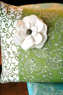 Pillow and Fabric Flower tutorial