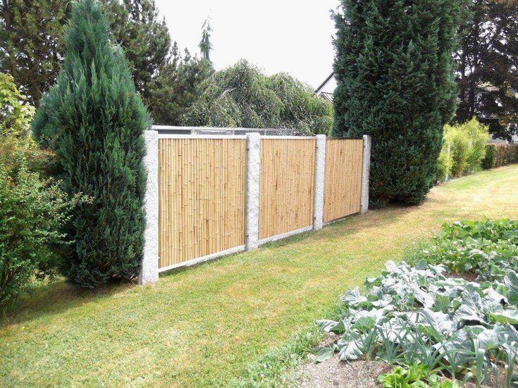 Frisch 40 Für Bambus Sichtschutz Mit Edelstahl Outdoor