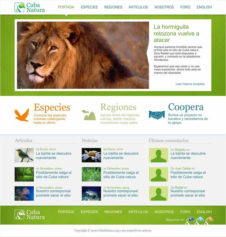 Portal web CubaNatura