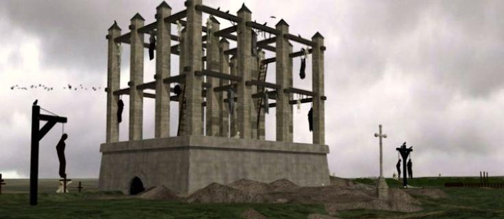 le gibet de Montfaucon disparu en 1760