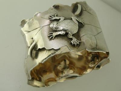 Shiebler Napkin Ring - Frog