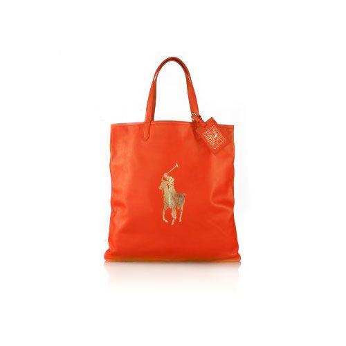 Ralph Lauren Women\u0027s 2019 PU Tote in Orange