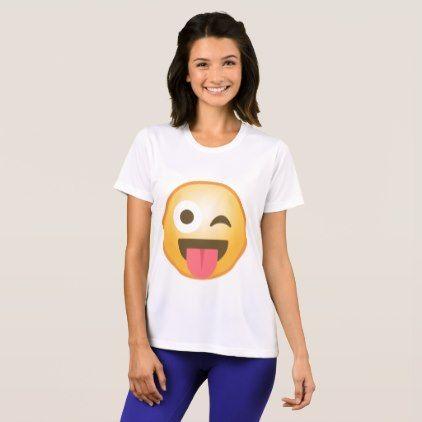 #trendy - #Winking Tongue Emoji T-Shirt